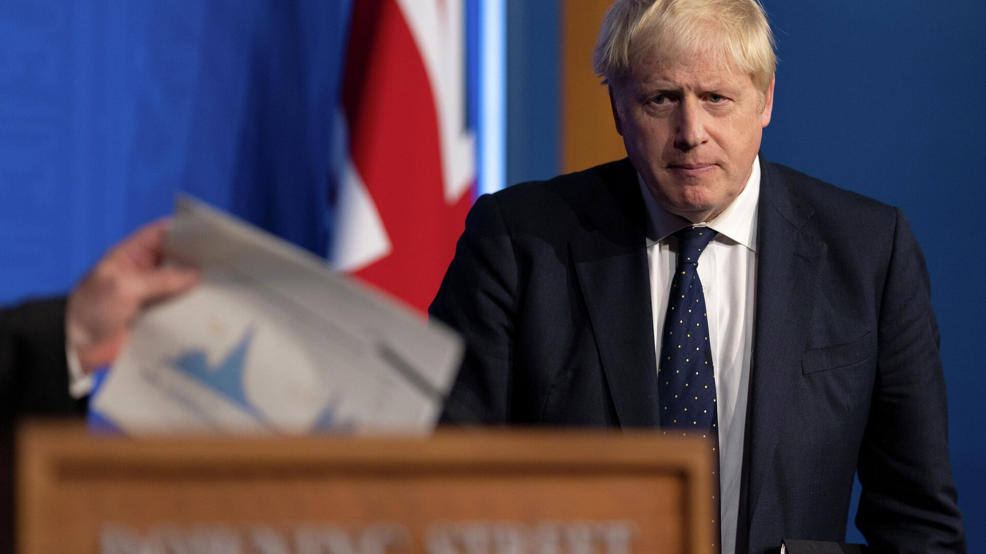 Der britische Premierminister Boris Johnson gibt ein Briefing. London, 14. September 2021 - SNA, 1920, 15.09.2021