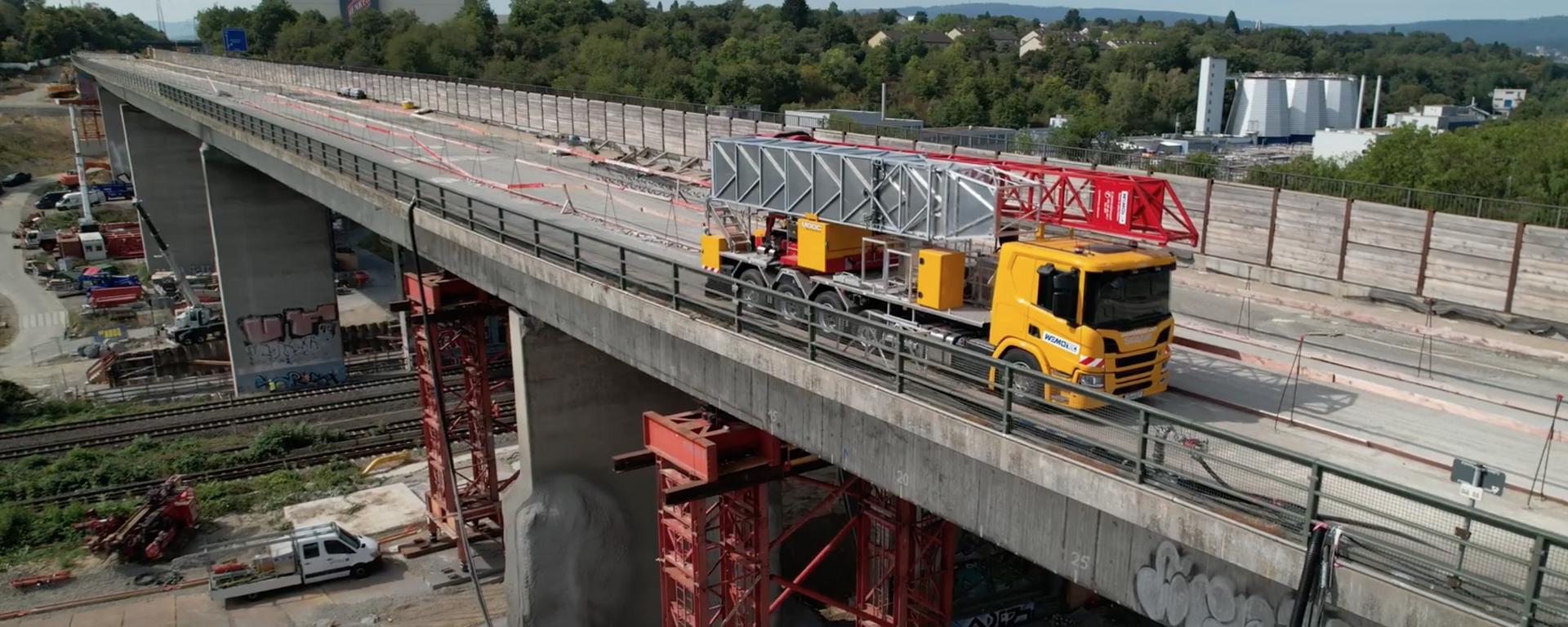 Salzbachtalbrücke: Sicherung Infrastruktur unter Brücke - SNA, 1920, 16.09.2021