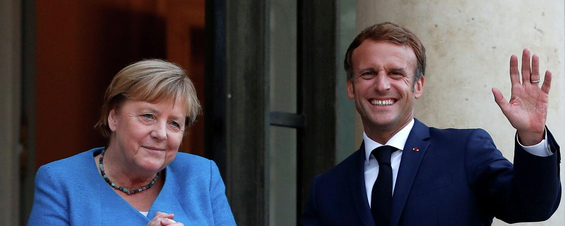 Merkel trifft sich mit Macron in Paris - SNA, 1920, 16.09.2021