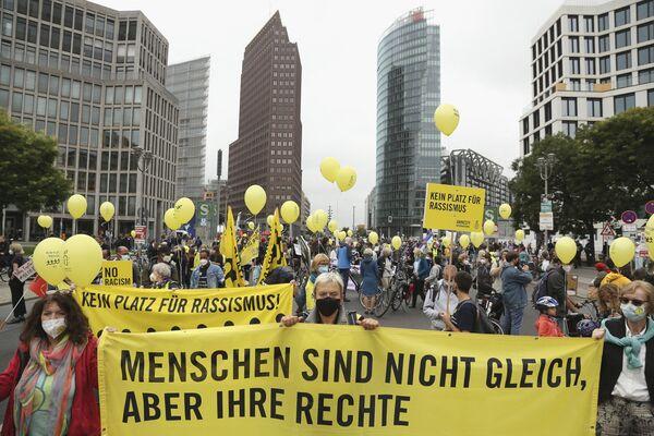 Teilnehmer einer Wahlkampfkundgebung in Berlin. - SNA