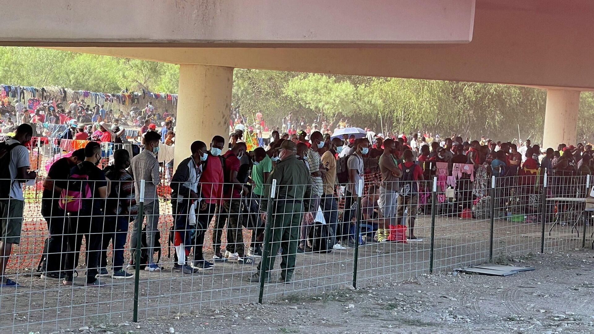 Asylsuchende in Del Rio, USA, der 16. September 2021 - SNA, 1920, 18.09.2021