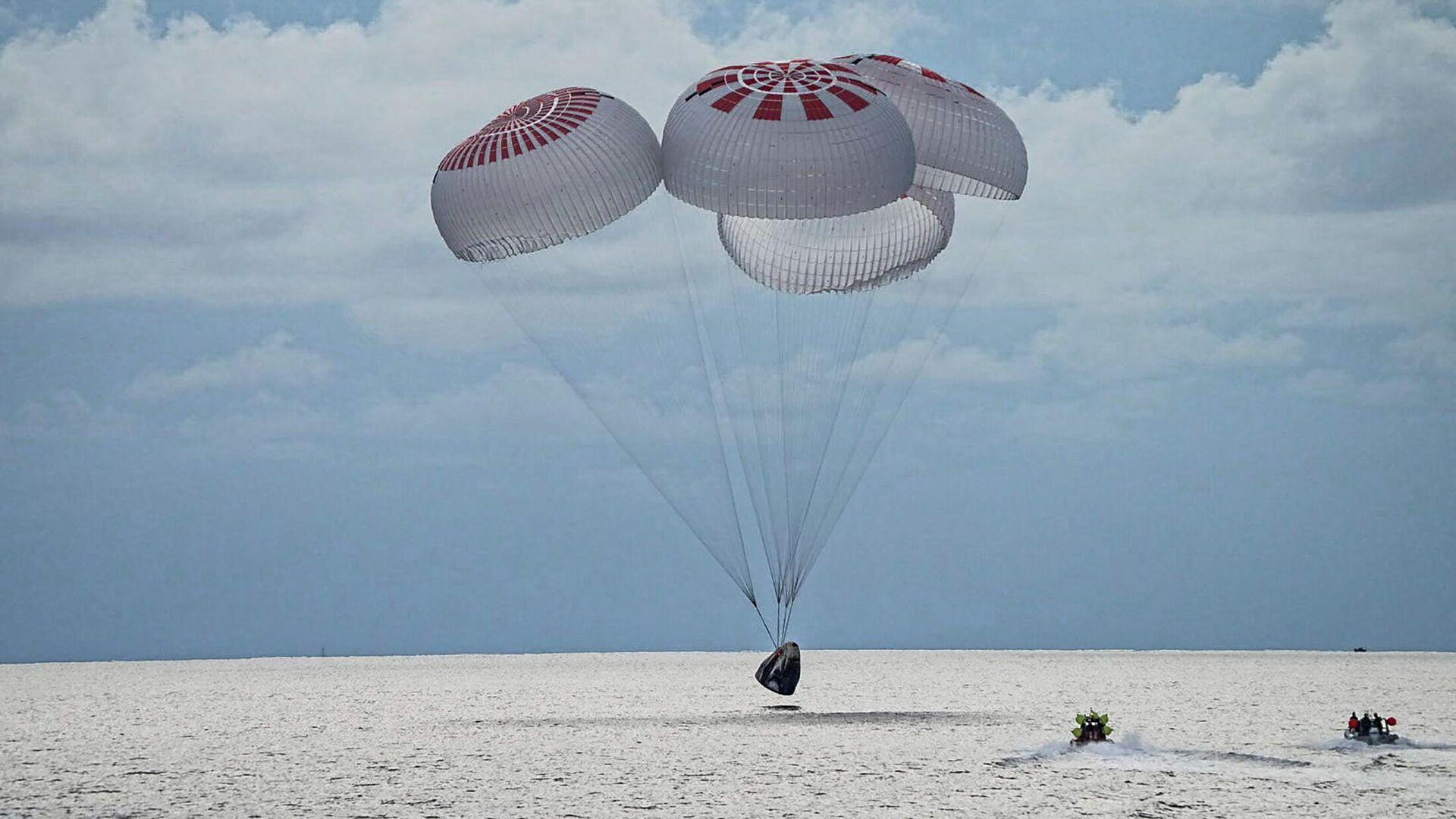 SpaceX-Weltraumcrew landet im Atlantik vor der Küste Floridas, der 18. September 2021  - SNA, 1920, 19.09.2021