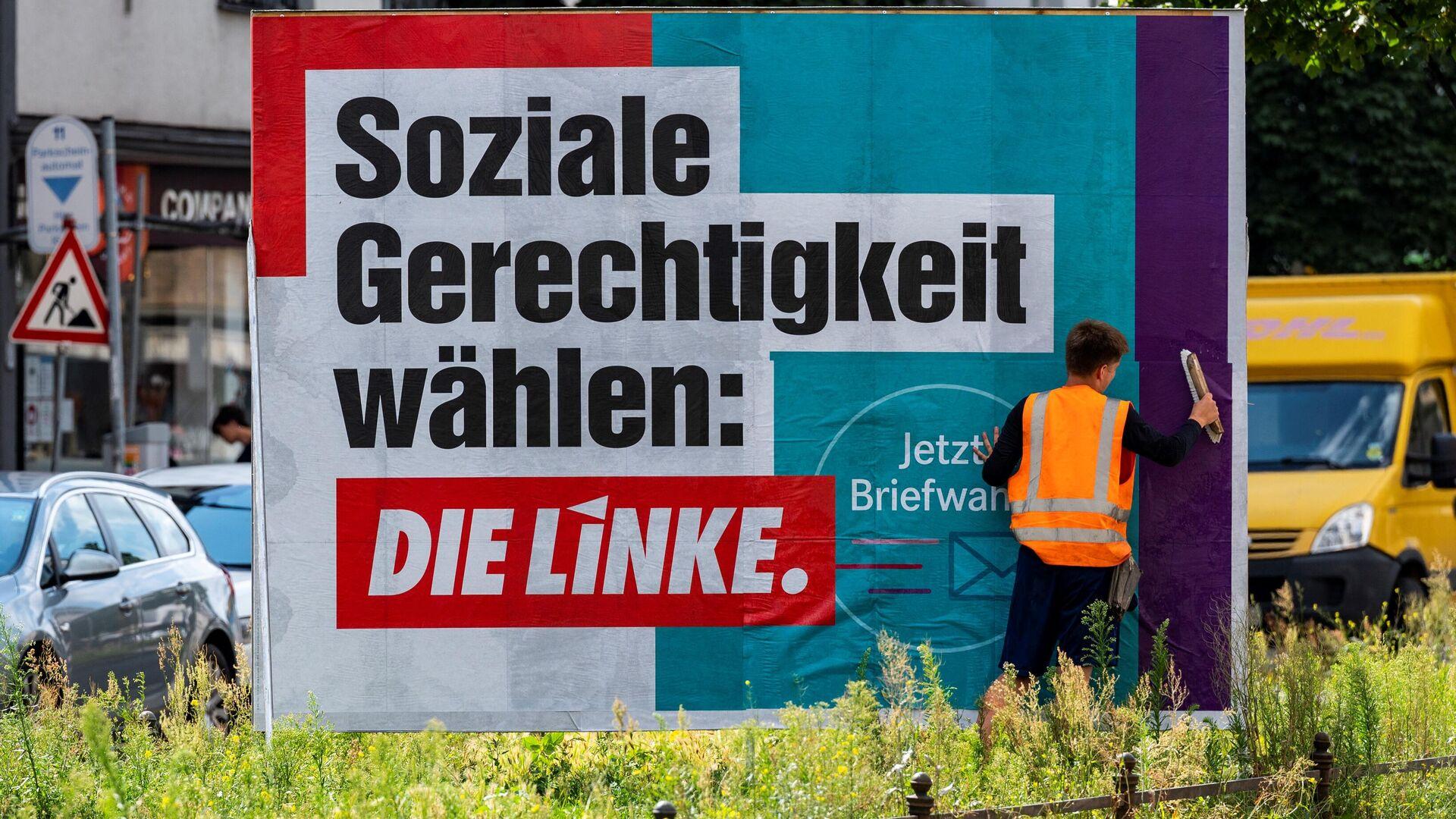 Wahlplakat der Linken Partei (Archiv) - SNA, 1920, 20.09.2021