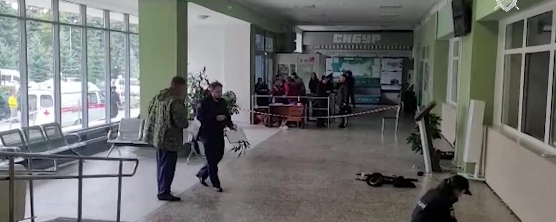 Ermittler in der Universität in Perm nach der tödlichen Schießerei , der 20. September 2021 - SNA, 1920, 21.09.2021