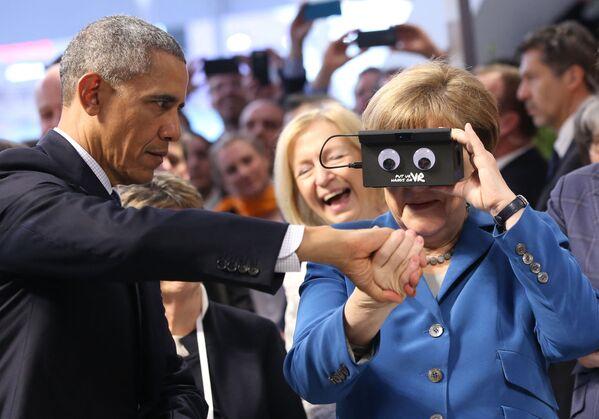 Bei der Bundestagswahl 2017 erzielte die Union mit 30,2 Prozent das schlechteste Ergebnis in ihrer Geschichte. Angela Merkel erklärte am 29. Oktober, dass sie nicht mehr für den CDU-Vorsitz kandidieren und nach dieser Amtszeit die Politik verlassen werde.Foto: Bundeskanzlerin Angela Merkel und US-Präsident Barack Obama auf der Hannover-Messe, 2016. - SNA