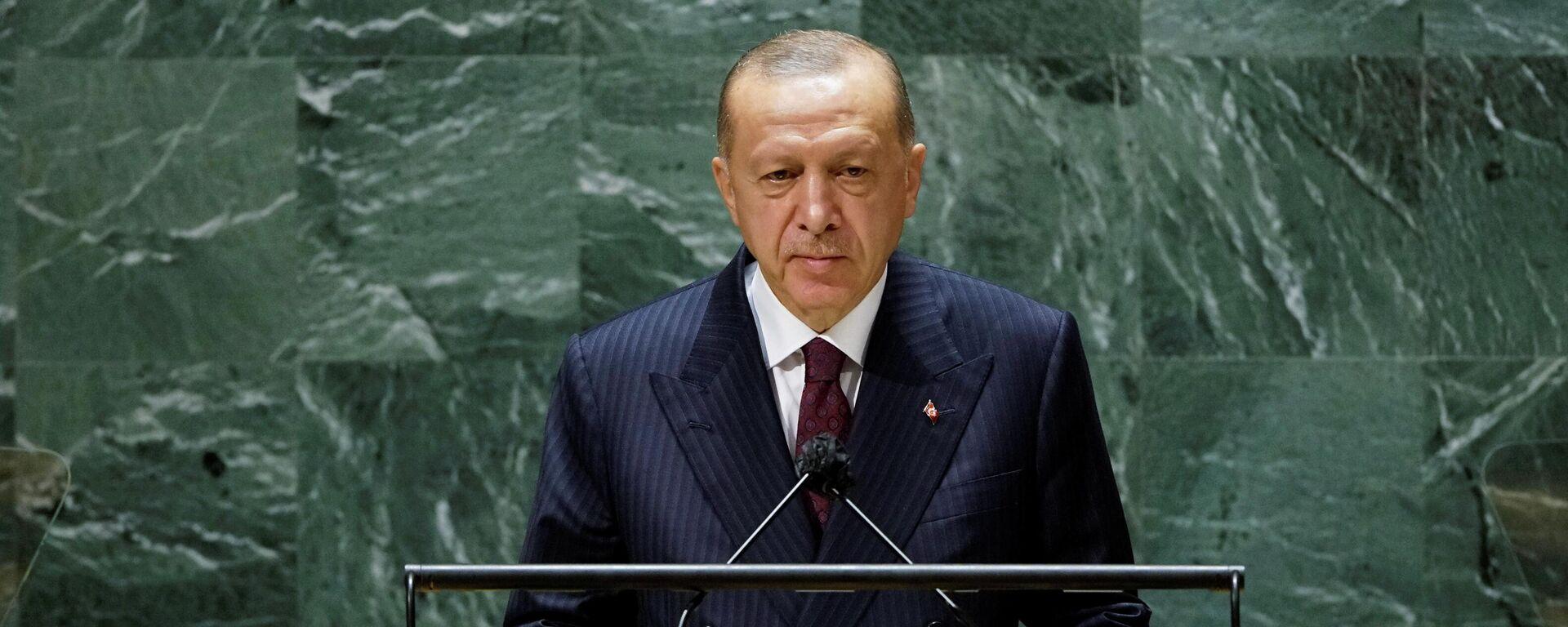 Erdogan vor der UN-Vollversammlung - SNA, 1920, 22.09.2021