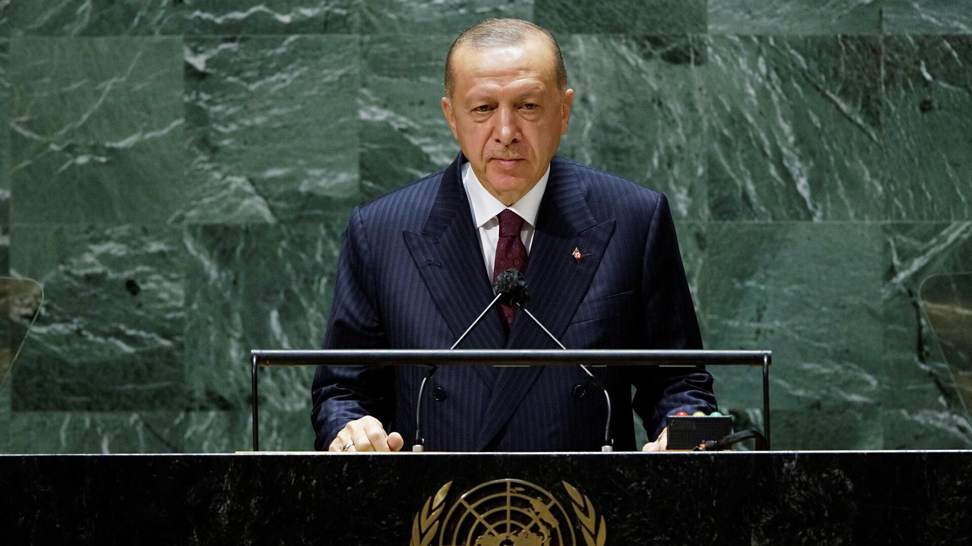 Erdogan vor der UN-Vollversammlung - SNA, 1920, 28.09.2021