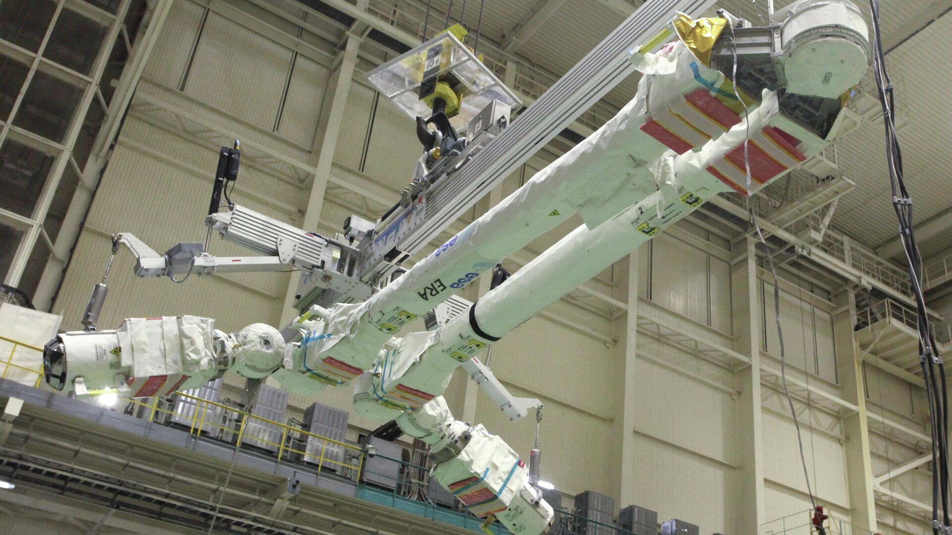 Der Europäische Roboterarm (ERA) kurz vor dem Anbringen am russischen Mehrzweck-Forschungsmodul Nauka (Archiv) - SNA, 1920, 22.09.2021