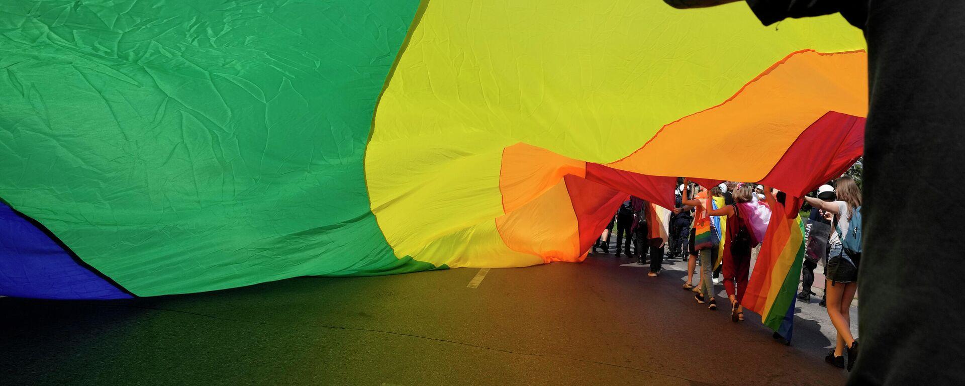 Eine Demonstration von LGBT-Untrerstützern in Czestochowa, Polen - SNA, 1920, 23.09.2021