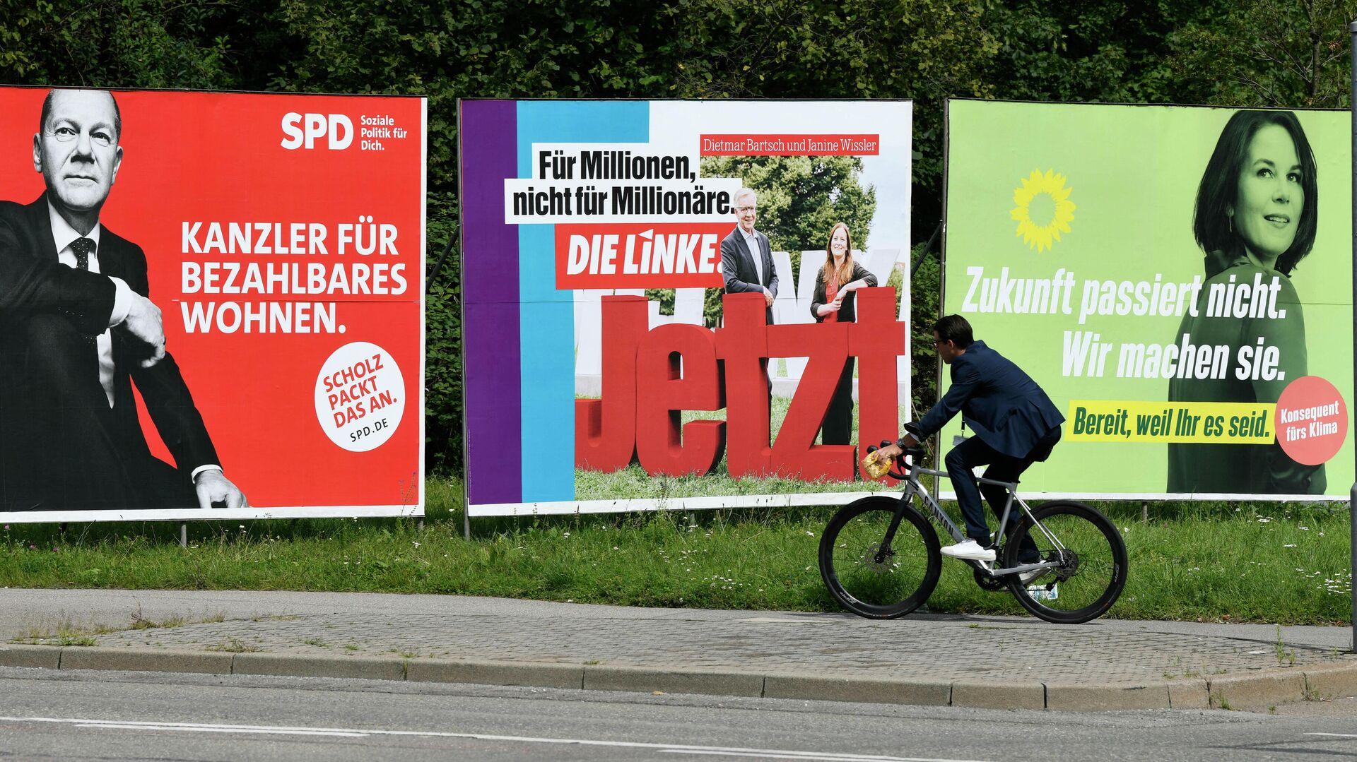 Wahlplakate SPD Grüne Linke - SNA, 1920, 23.09.2021