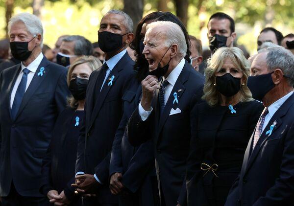 US-Präsident Joe Biden auf einer Zeremonie zum Gedenken an die Opfer der Terroranschläge vor 20 Jahren in New York. - SNA