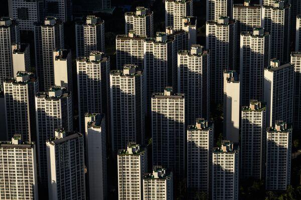 Blick vom 123. Geschoss des Lotte World Tower in Seoul. - SNA