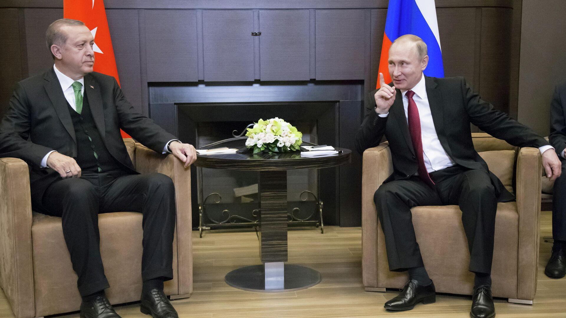 Erdogans Treffen mit Putin (Archivbild) - SNA, 1920, 24.09.2021