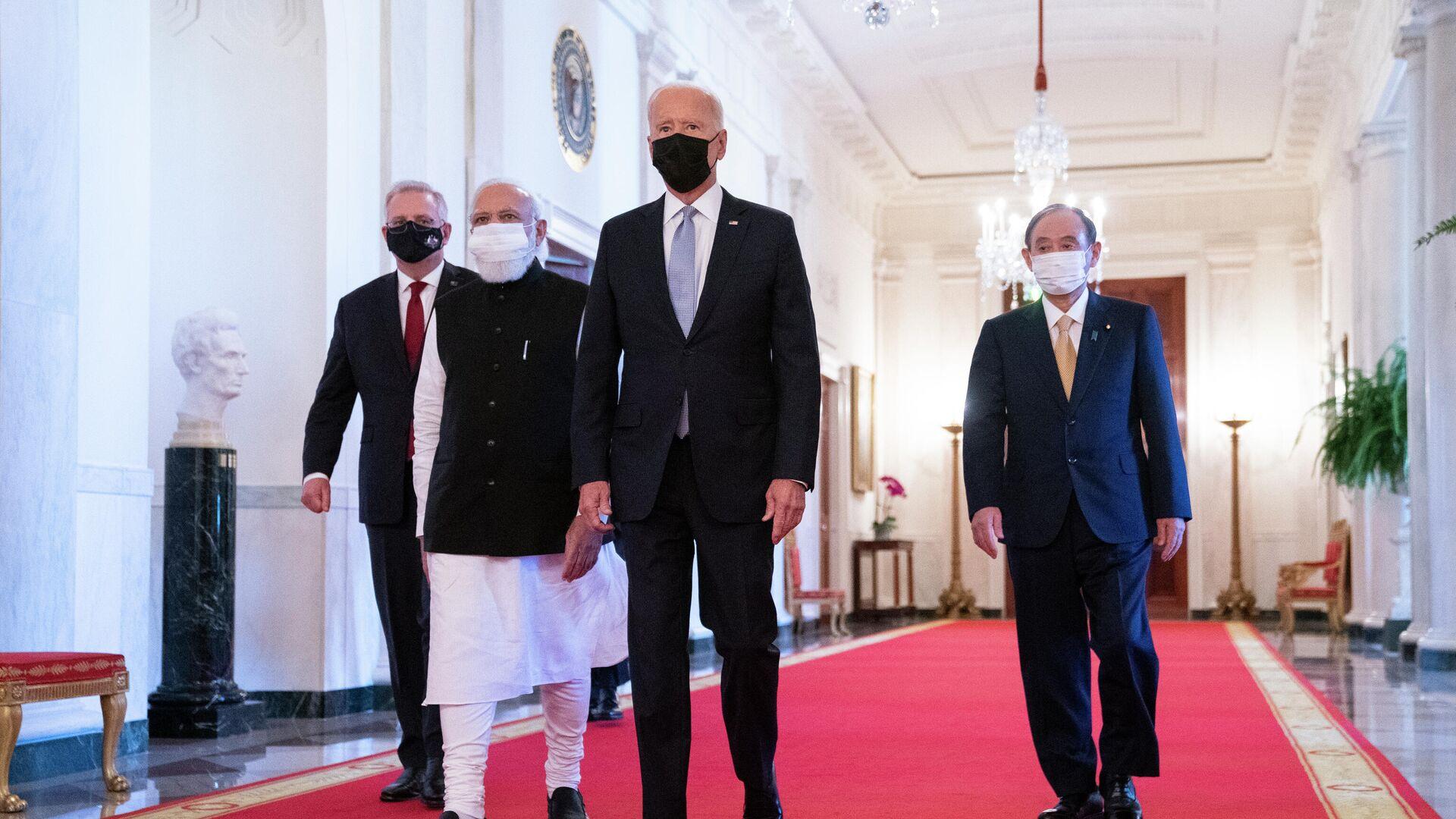 Quad-Gipfel: US-Präsident Biden empfängt Regierunschefs von Australien, Indien und Japan  - SNA, 1920, 25.09.2021