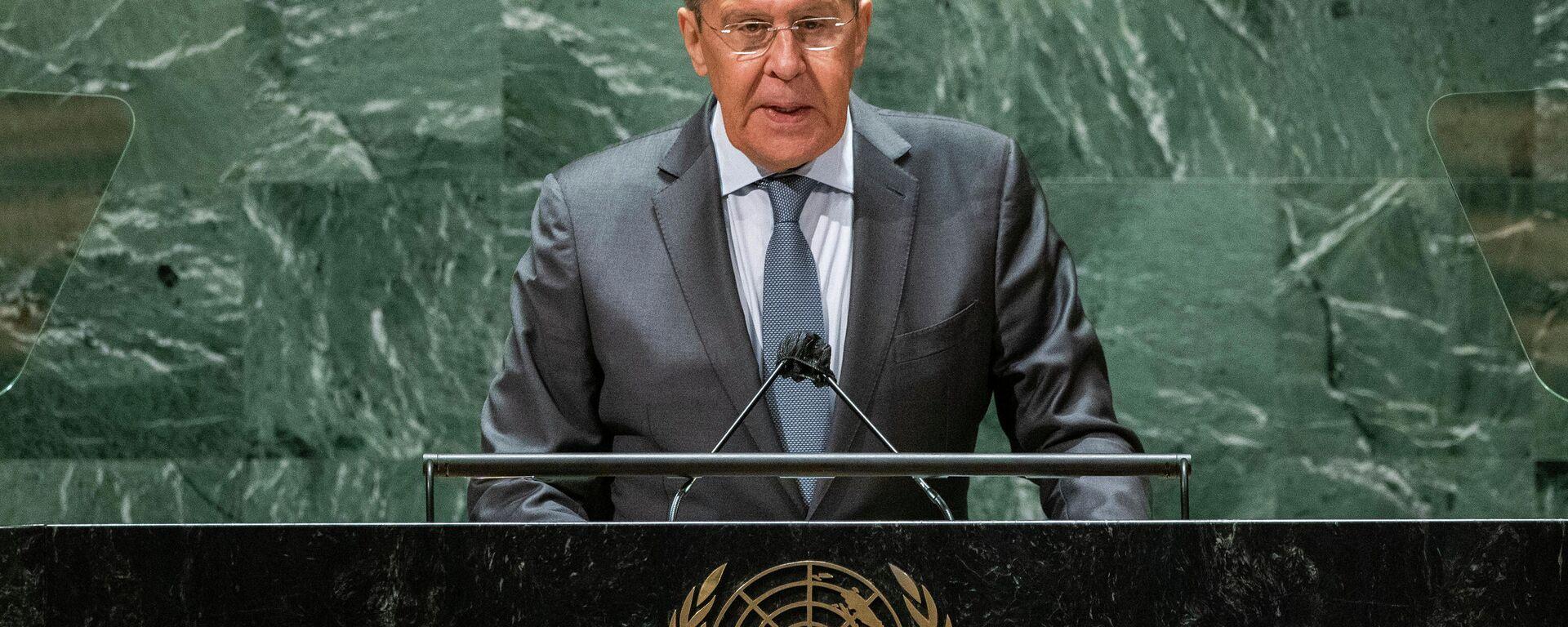 Russlands Außernminister hält Rede vor der 76. Sitzung der UN-Generalversammlung - SNA, 1920, 26.09.2021