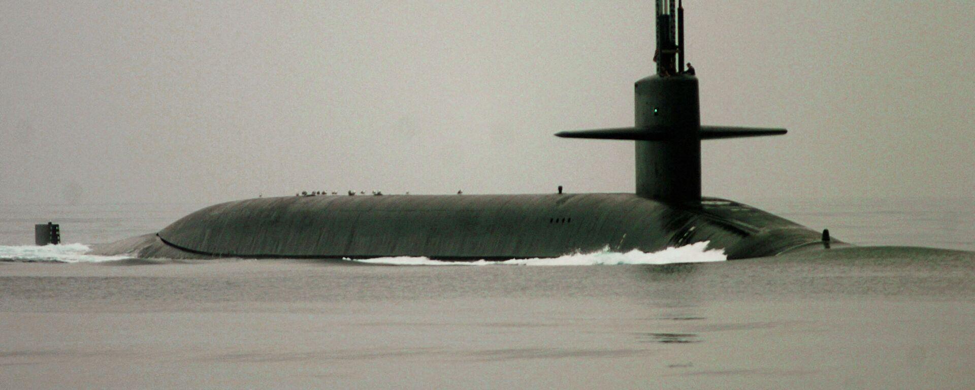 as Atom-U-Boot der Ohio-Klasse USS Georgia (SSGN 729) vor der Küste Südkaliforniens, 7. Oktober 2004. - SNA, 1920, 26.09.2021