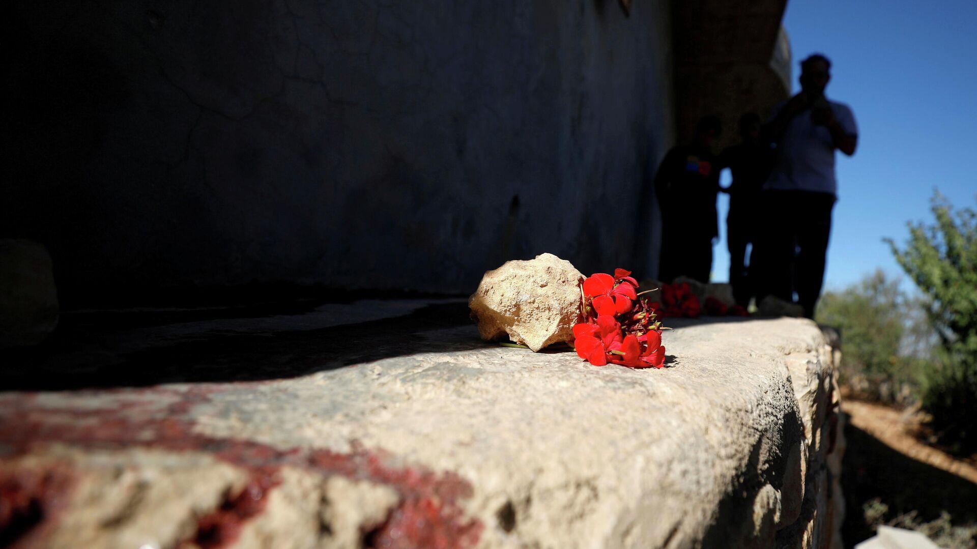 Ein Ort in Beit Anan im Westjordanland, wo militante Hamas-Kämpfer im Rahmen des israelischen Einsatzes getötet wurden - SNA, 1920, 26.09.2021