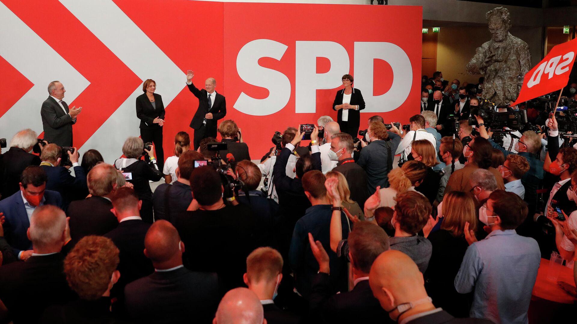 Olaf Scholz, SPD-Kanzlerkandidat  - SNA, 1920, 27.09.2021