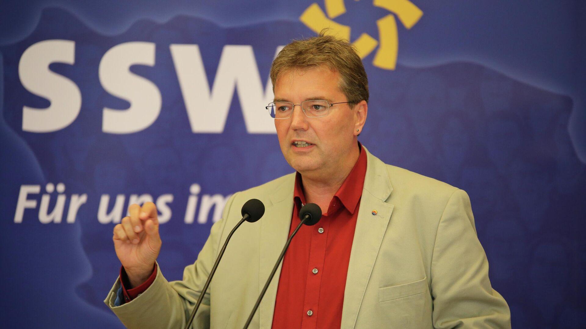 Vorsitzender des SSW im Schleswig-Holsteinischen Landtag Lars Harms - SNA, 1920, 27.09.2021