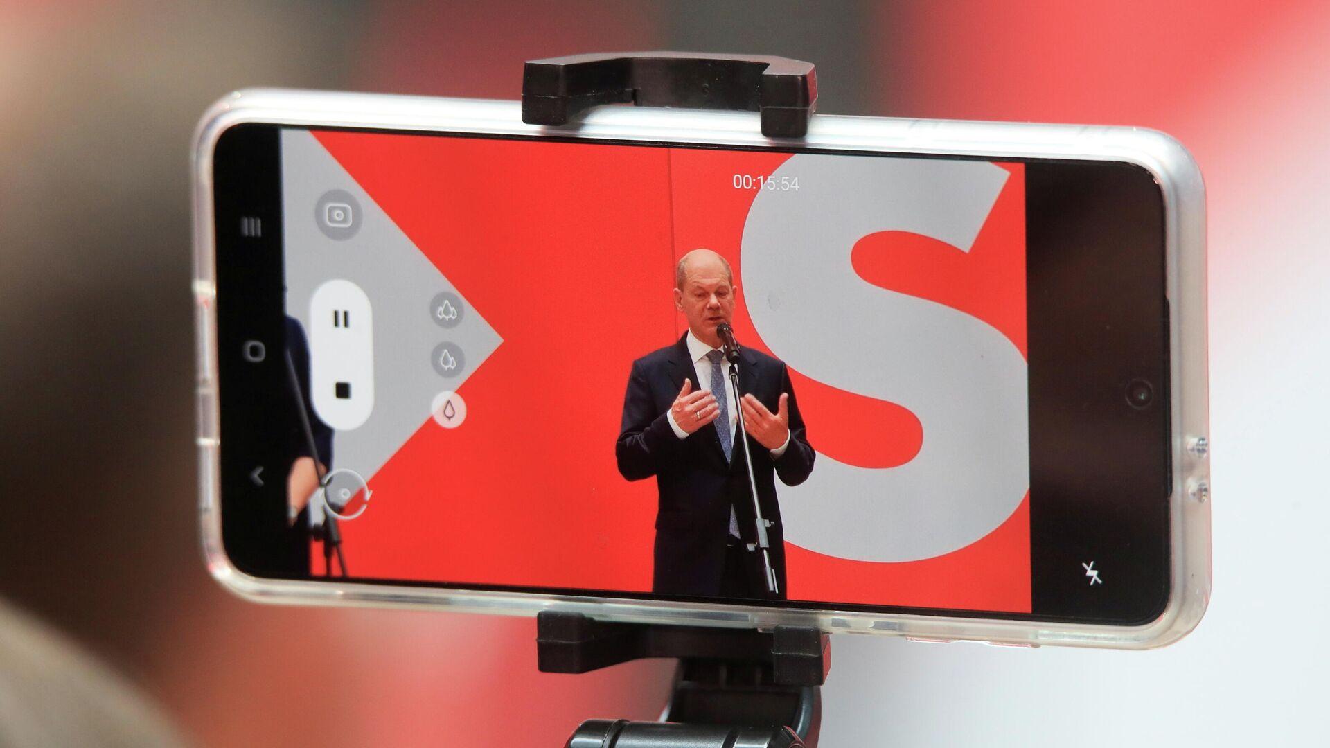 Pressekonferenz von Olaf Scholz (SPD) am 27. September 2021 - SNA, 1920, 27.09.2021