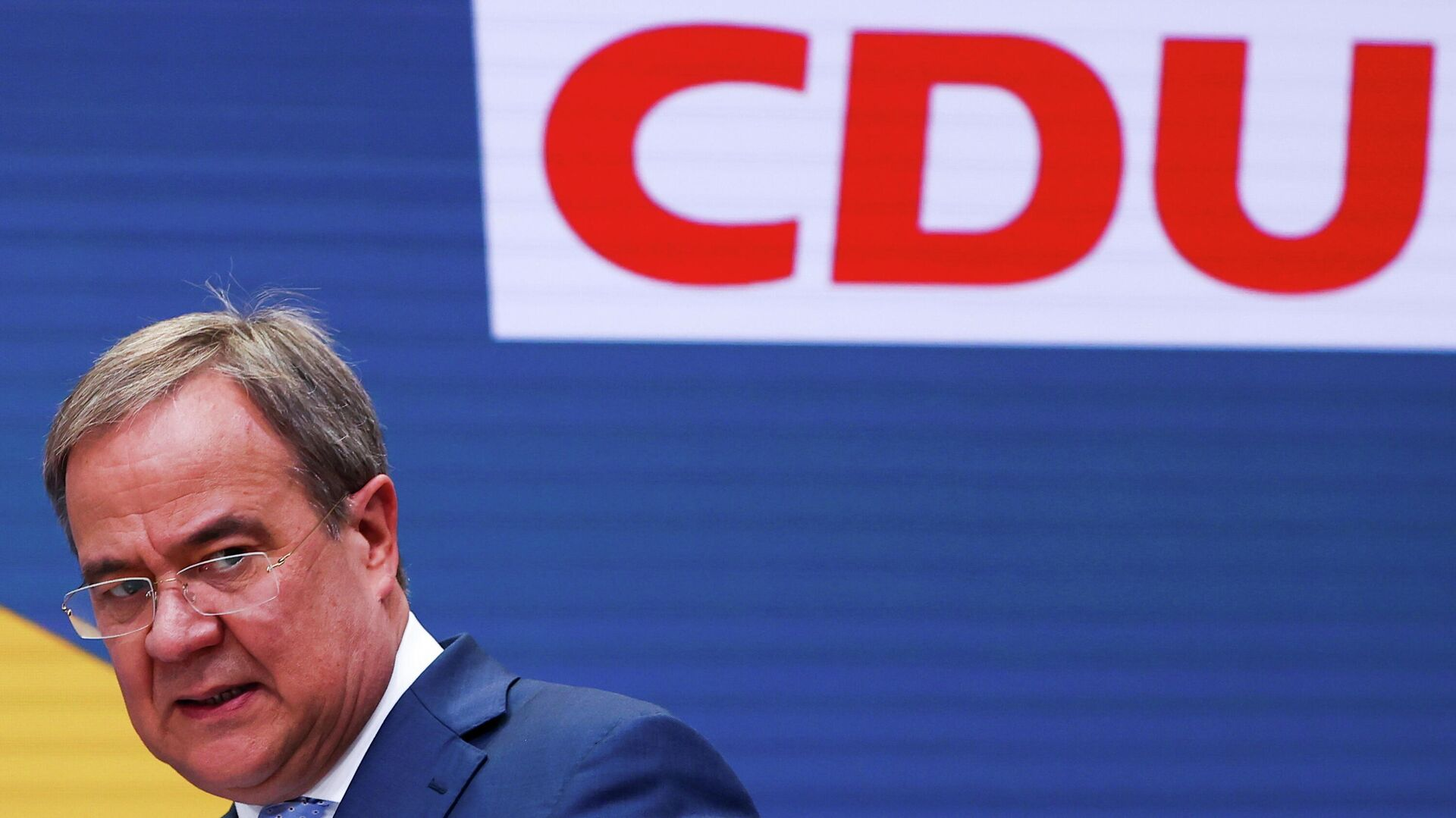 CDU-Chef Armin Laschet bei der Pressekonferenz am 27. September 2021 - SNA, 1920, 27.09.2021