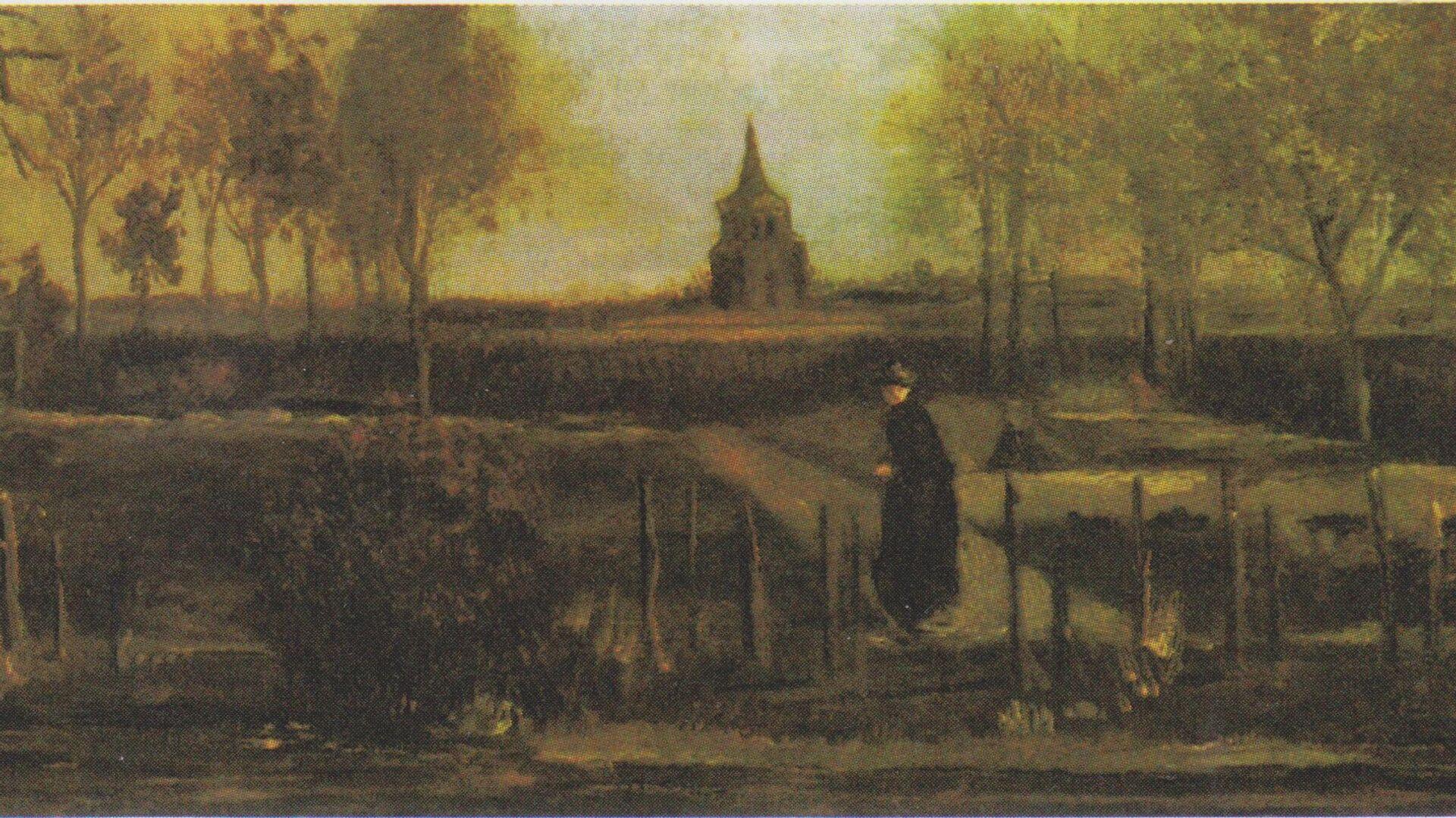 Der Pfarrgarten in Nuenen mit weiblicher Figur, Vincent Van Gogh - SNA, 1920, 24.09.2021