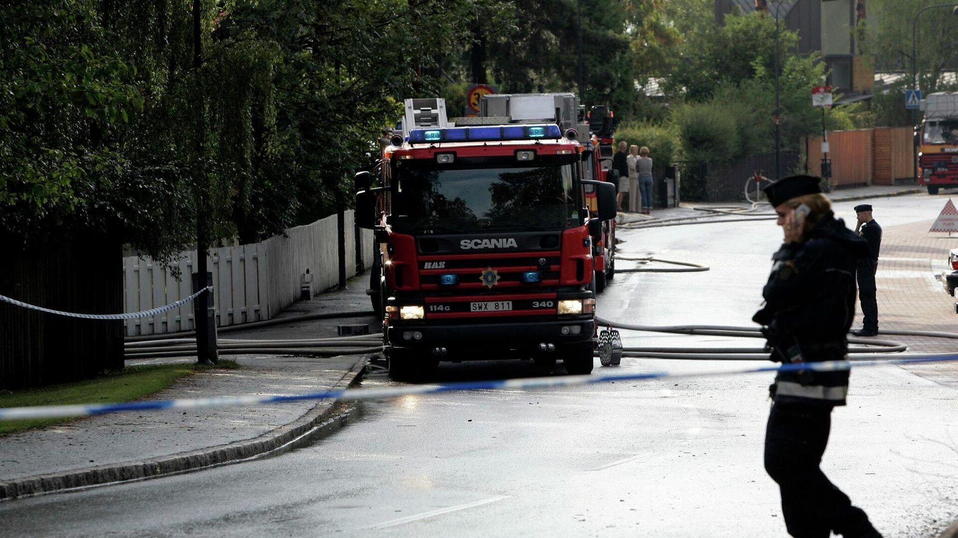 Feuerwehr in Schweden (Symbolbild) - SNA, 1920, 28.09.2021