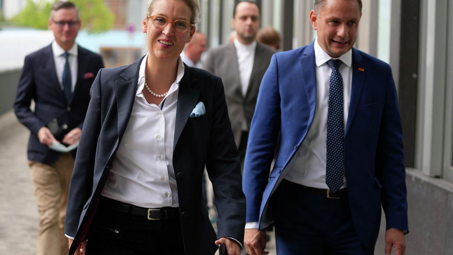 AfD-Fraktionschefin Alice Weidel und AfD-Co-Vorsitzender Tino Chrupalla - SNA, 1920, 30.09.2021