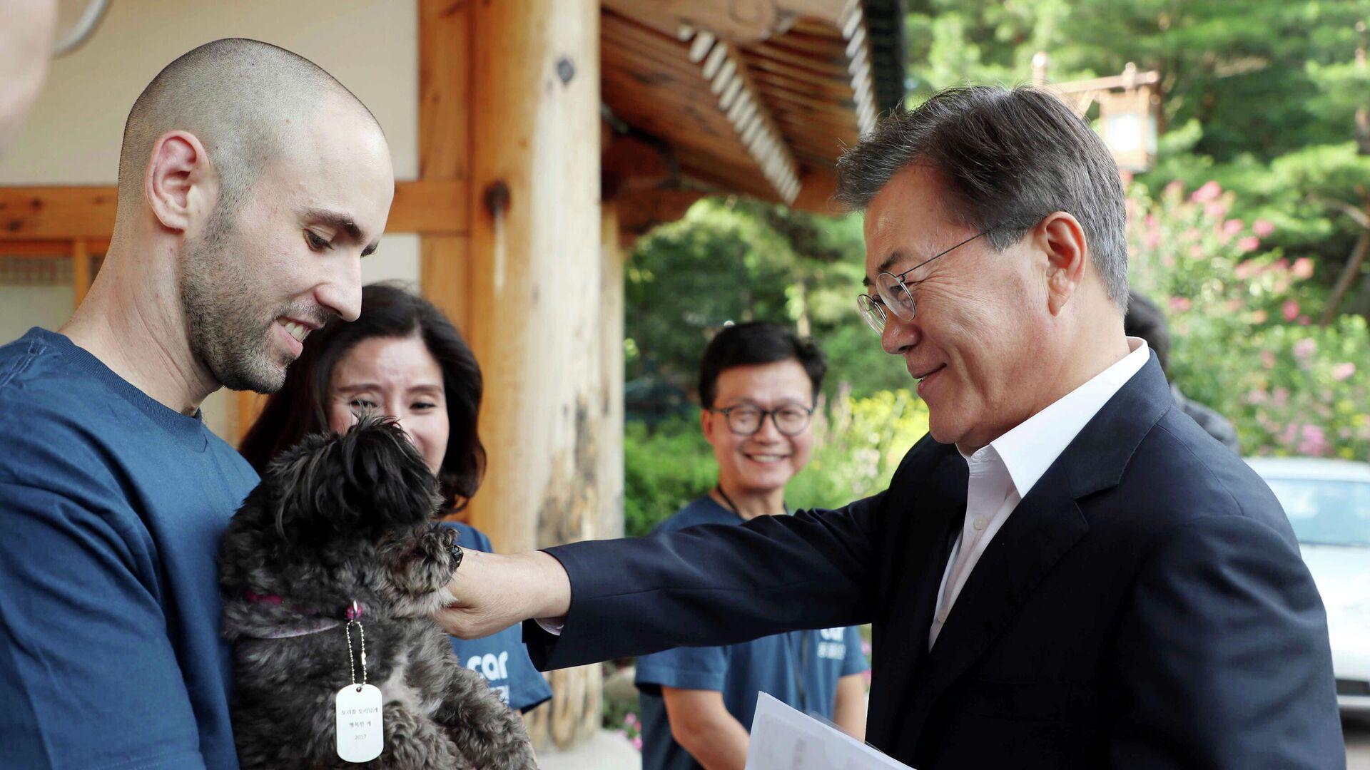 Südkoreas Präsident Moon Jae-in - SNA, 1920, 28.09.2021