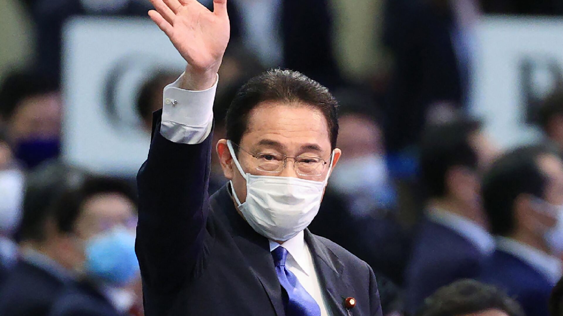 Fumio Kishida nach der Wahl zum Vorsitzenden der Regierungspartei LDP - SNA, 1920, 29.09.2021