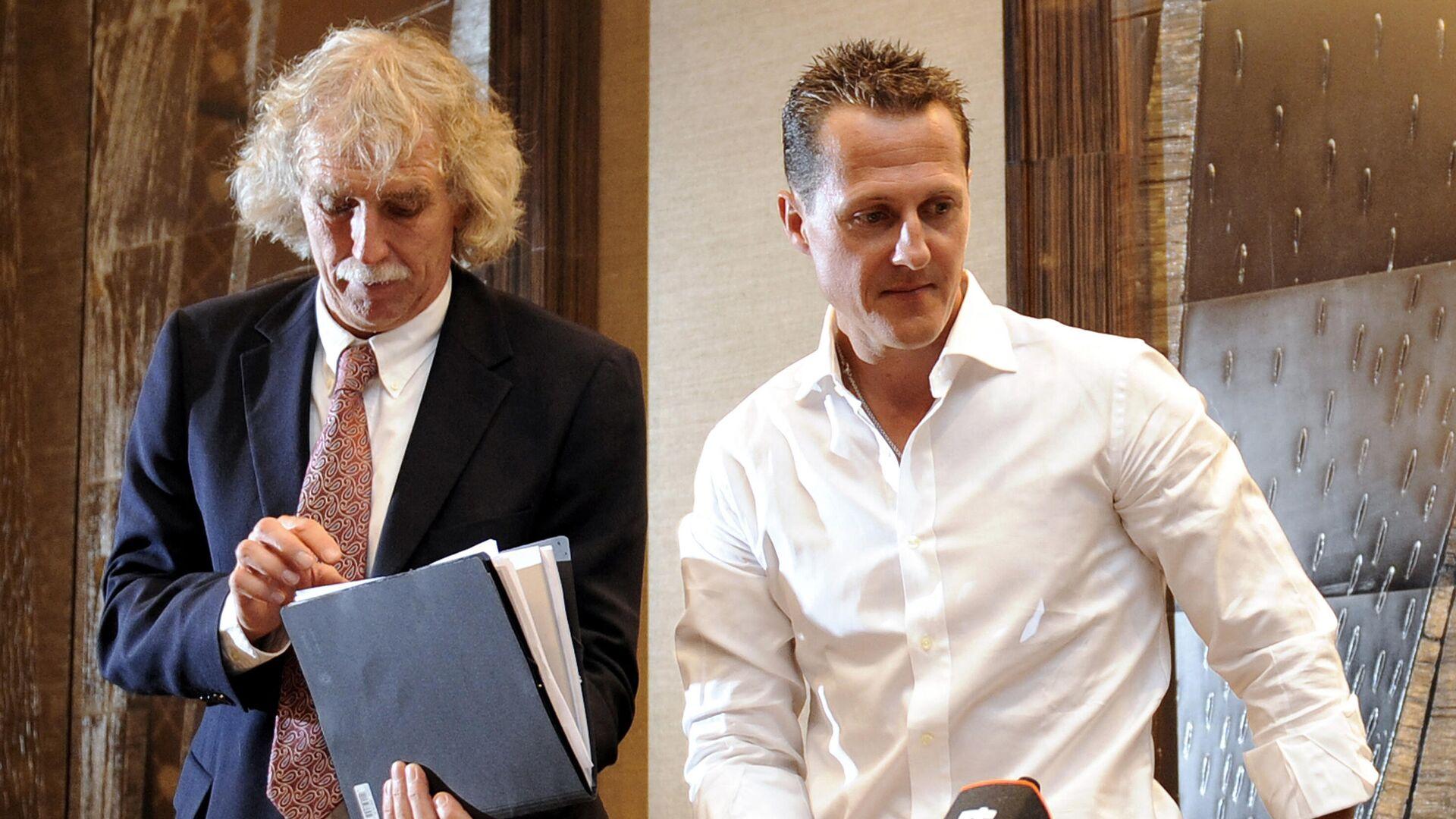 Michal Schumacher und sein Arzt Johannes Peil, August 2009, Genf  - SNA, 1920, 29.09.2021