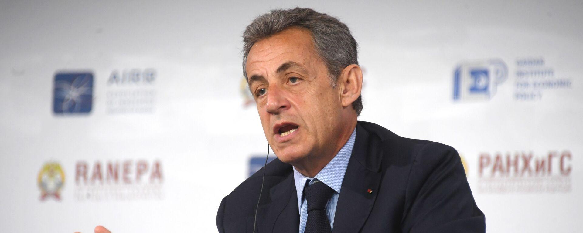 Nicolas Sarkozy auf dem 11. Gaidar-Forum in Moskau (Archivbild) - SNA, 1920, 30.09.2021
