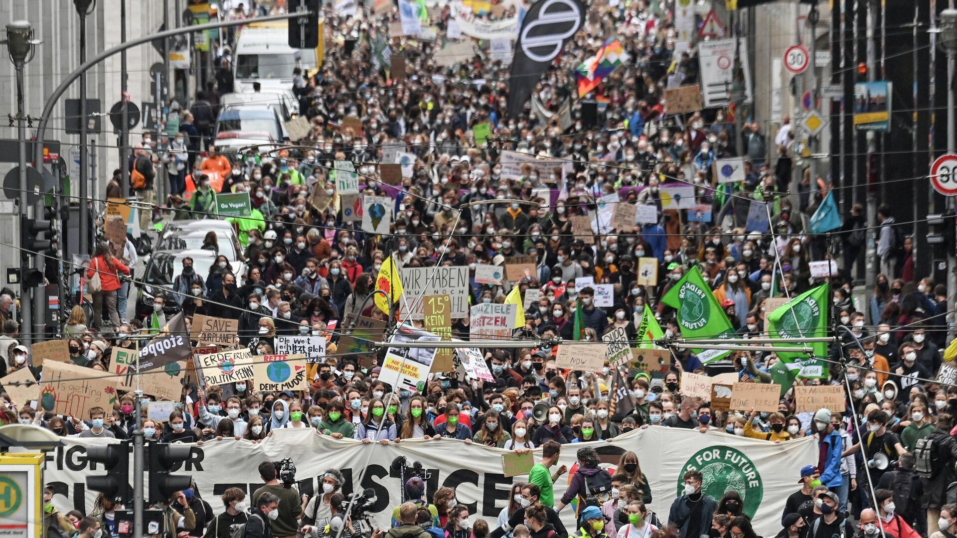 Ein Klima-Streik in Berlin, 24.September 2021 - SNA, 1920, 30.09.2021