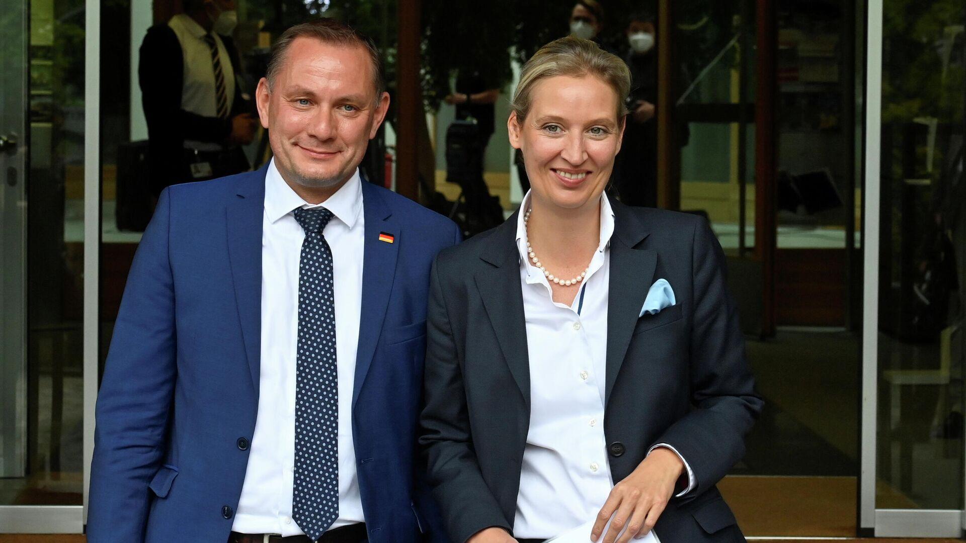 Alice Weidel und Tino Chrupalla zu AfD-Fraktionsvorsitzenden gewählt  - SNA, 1920, 01.10.2021