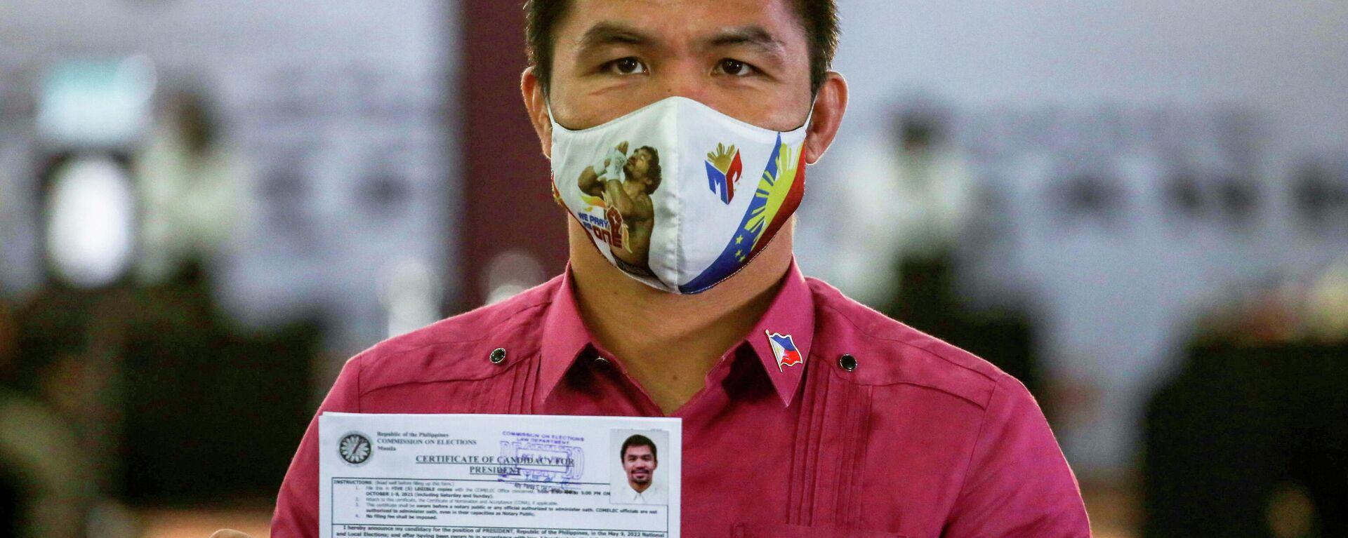 Philippinen: Ex-Boxer Pacquiao reicht Präsidentschaftskandidatur ein - SNA, 1920, 01.10.2021