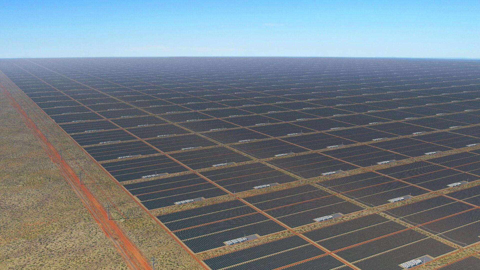 Vision von Sun Cable: Photovoltaik soweit das Auge reicht - SNA, 1920, 02.10.2021