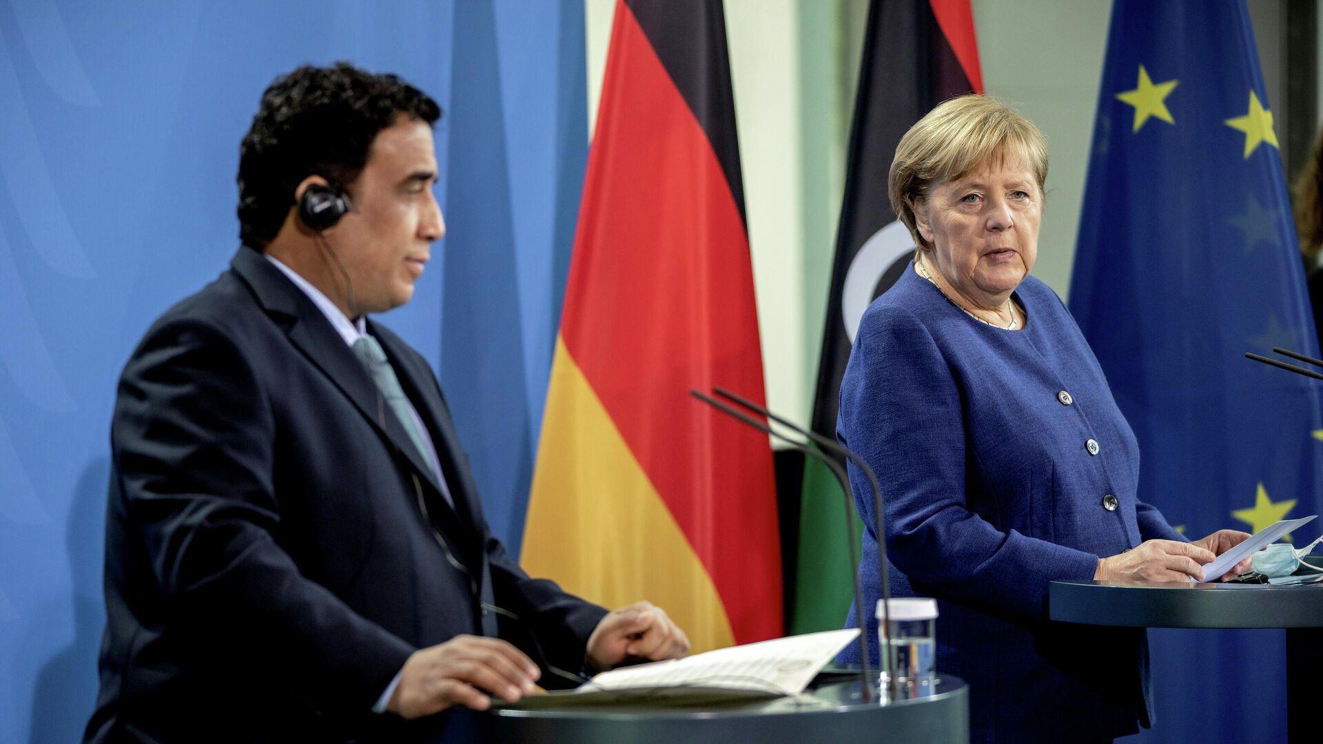 Merkel trifft al-Menfi in Berlin  - SNA, 1920, 01.10.2021