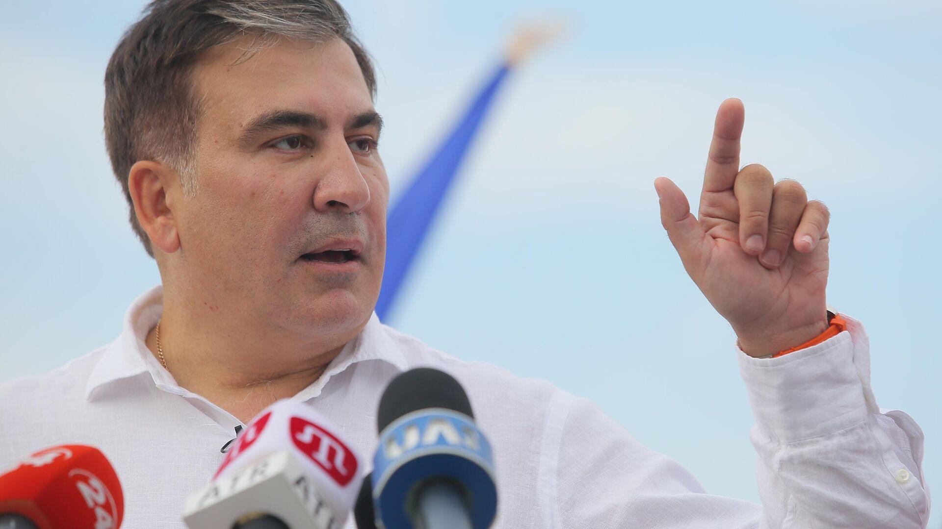 Georgiens Ex-Präsident Michail Saakaschwili, Chef der politischen Partei Bewegung neuer Kräfte, in Kiew, Ukraine (Archiv) - SNA, 1920, 01.10.2021