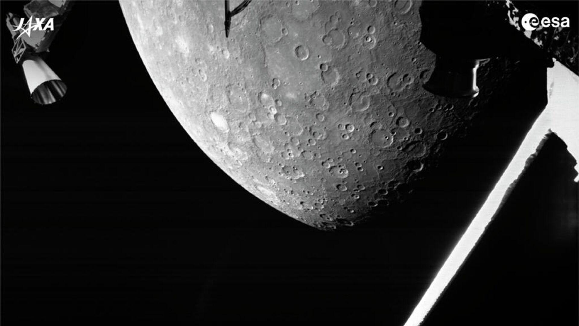 Die europäisch-japanische Raumsonde BepiColombo schickt erste Bilder von Merkur - SNA, 1920, 02.10.2021