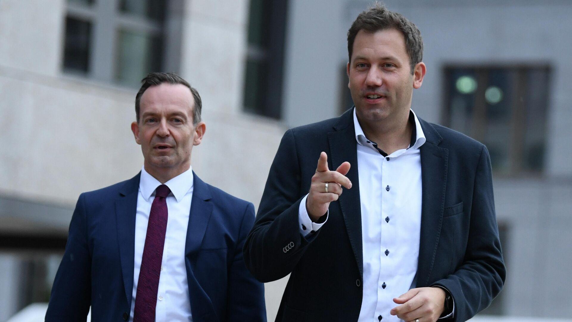 SPD und FDP führen Gespräche über ein mögliches Regierungsbündnis - SNA, 1920, 03.10.2021