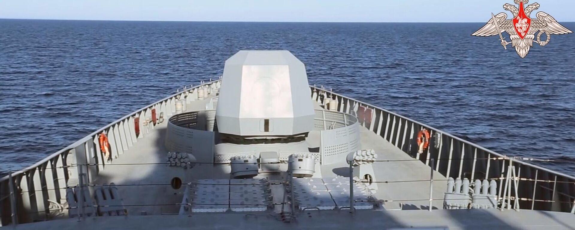Russische Fregatte Admiral Gorschkow bei Einsatzübung - SNA, 1920, 19.07.2021