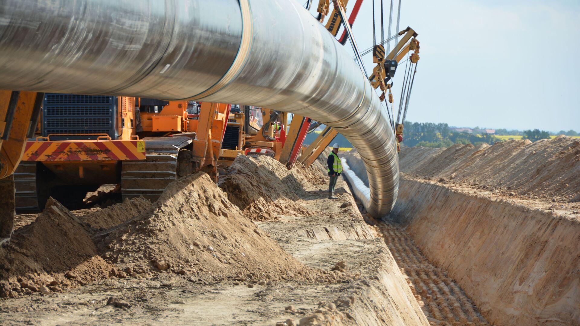 Baustelle der Gaspipeline Nord Stream 2 in Deutschland - SNA, 1920, 04.10.2021