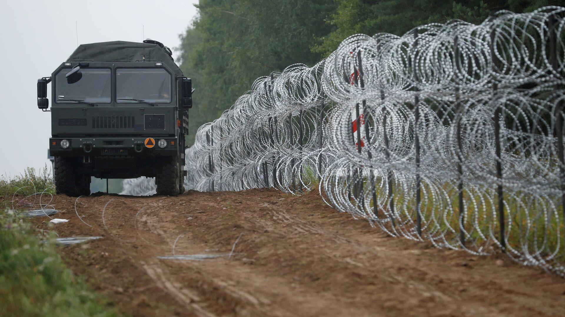 Polen will den Flüchtlingszustrom aus Weißrussland mit einem Drahtzaun stoppen (Archiv) - SNA, 1920, 04.10.2021