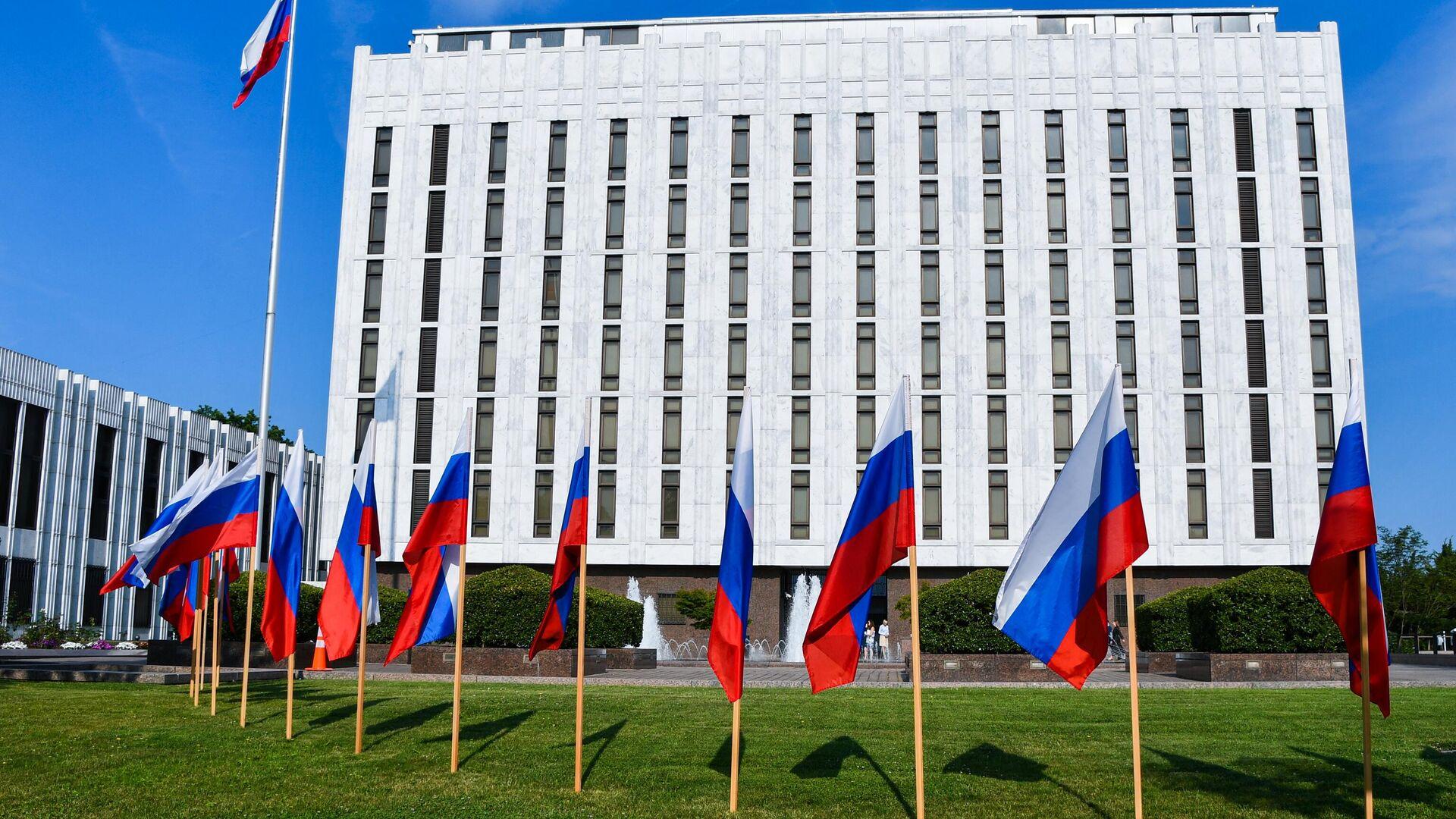 Gebäude der russischen Botschaft in Washington - SNA, 1920, 05.10.2021