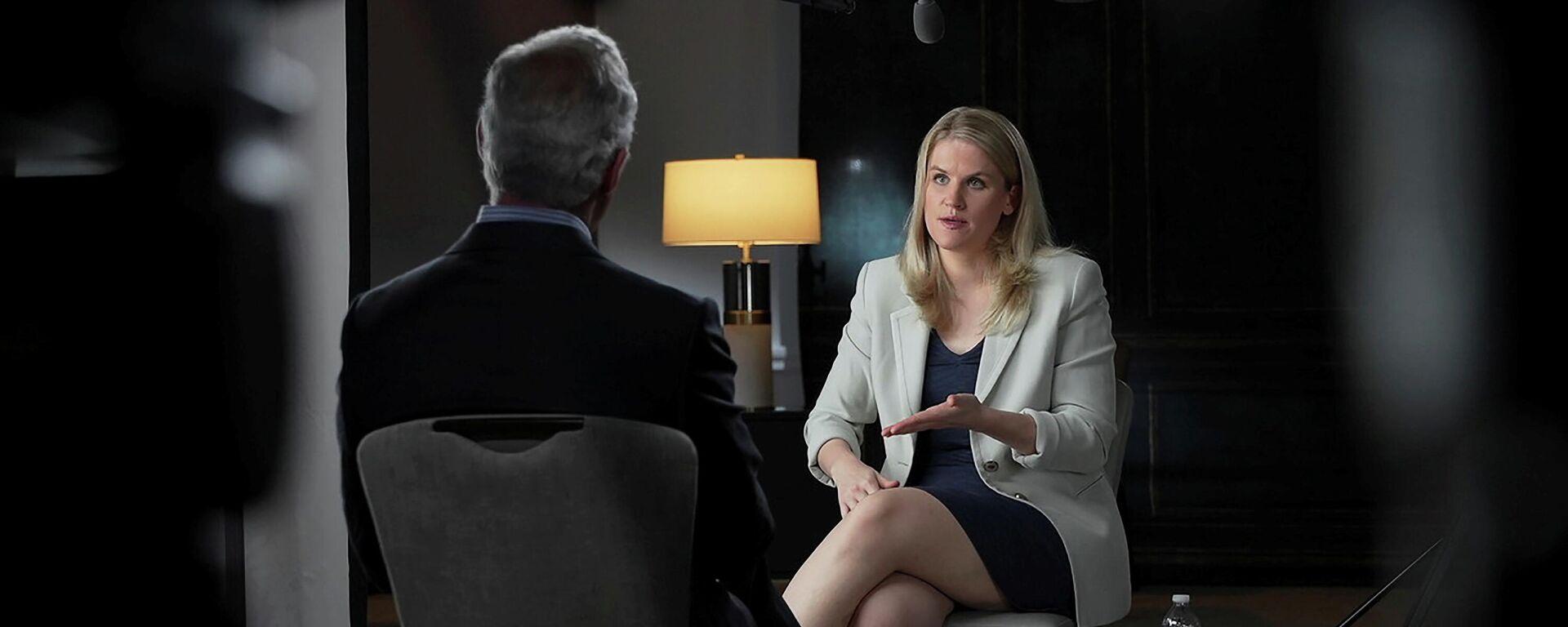 Frances Haugen spricht mit Scott Pelley in der CBS-Sendung - SNA, 1920, 04.10.2021
