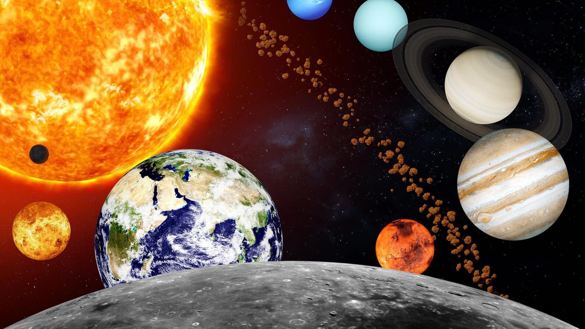 Planeten und Asteroiden im Weltraum (Symbolbild) - SNA, 1920, 06.10.2021