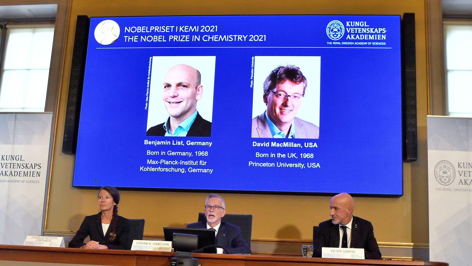 Chemie-Nobelpreisträger 2021 - SNA, 1920, 06.10.2021