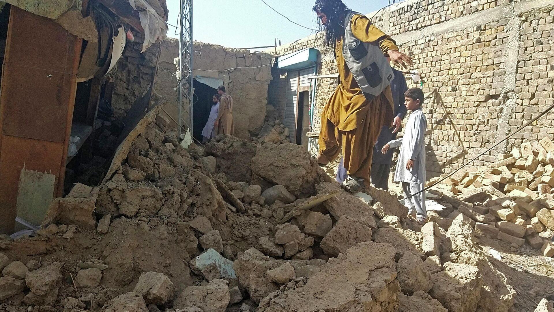 Nach Erdbeben in Pakistan - SNA, 1920, 07.10.2021