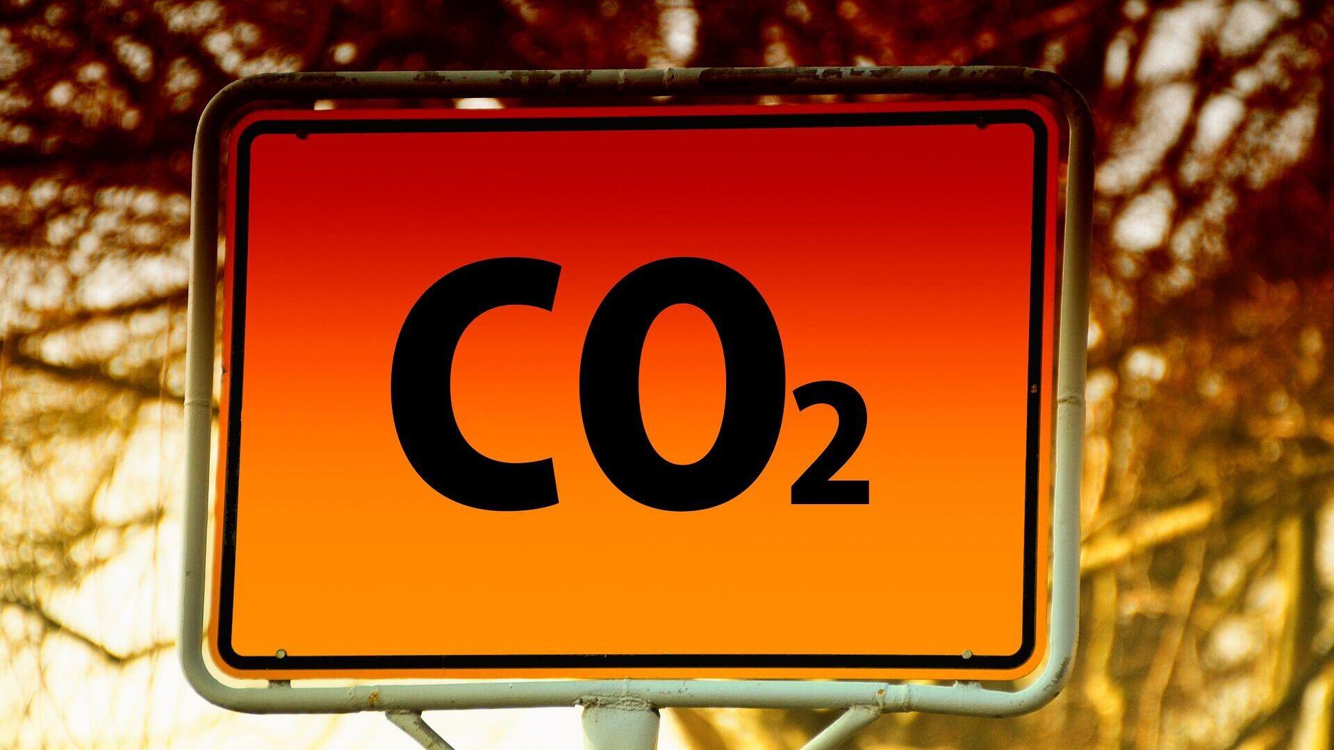 CO2-Zeichen (Symbolbild) - SNA, 1920, 14.10.2021