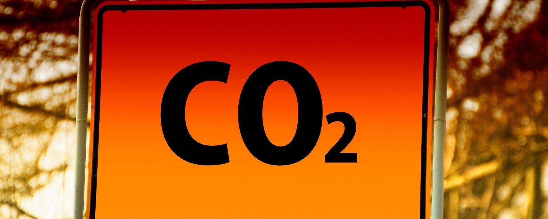 CO2-Zeichen (Symbolbild) - SNA, 1920, 07.10.2021